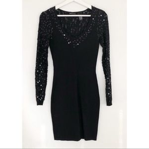 VICTORIA'S SECRET XS Sequin Illusion Sleeve Dress